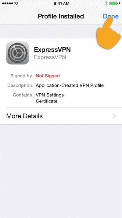 如何在iPhone上设置ExpressVPN服务