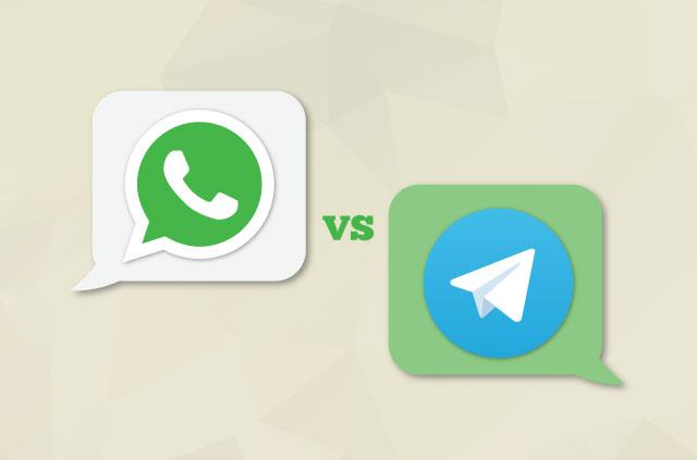 电话聊天应用程序:WhatsApp vs Telegram
