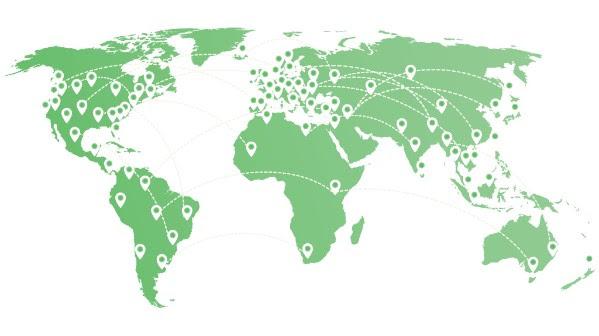ExpressVPN有148个城市的服务器